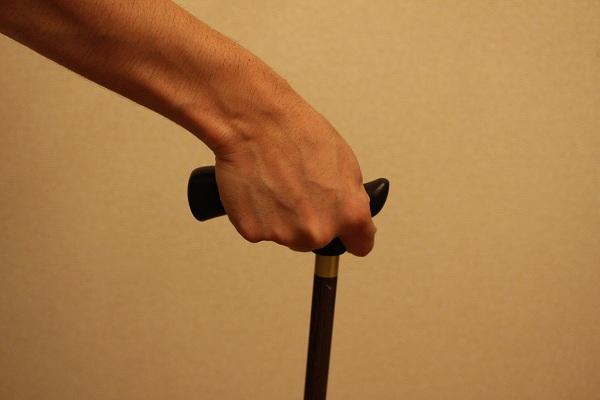 杖の握り方