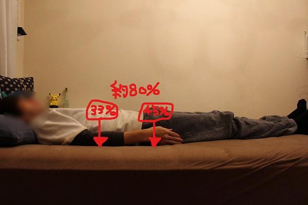 寝る 負担 体
