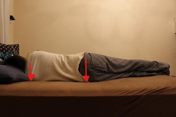 寝る 横向き